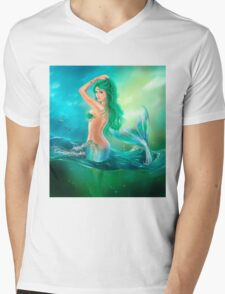 mermaid fantasy at ocean on waves T-Shirt