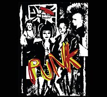 Music punk rock art graffiti  by Tom Conway