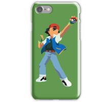 Ash Ketchum Blank Face  iPhone Case/Skin
