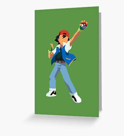 Ash Ketchum Blank Face  Greeting Card