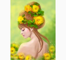 Spring woman in yellow flowers Unisex T-Shirt
