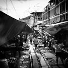 Maeklong Train Market by hangingpixels