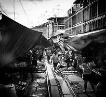 Maeklong Train Market by hangingpixels