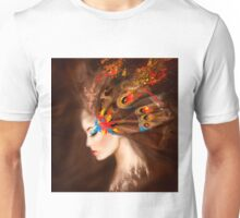 Fantasy Portrait beautiful woman butterfly Unisex T-Shirt