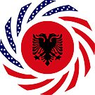 Albanian American Multinational Patriot Flag Series by Carbon-Fibre Media