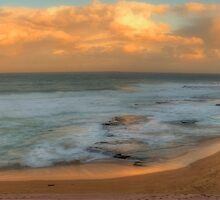 Turimetta Sunset - Turimetta Beach #4 Panorama, Sydney Australia - The HDR Experience by Philip Johnson