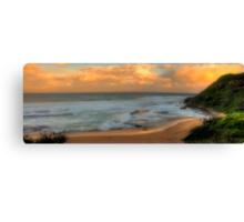 Turimetta Sunset - Turimetta Beach #4 Panorama, Sydney Australia - The HDR Experience Canvas Print
