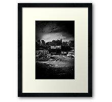 House on stilts in rural Thailand Framed Print