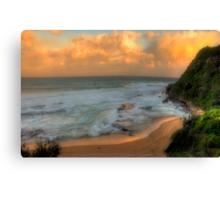 Turimetta Sunset - Turimetta Beach, Sydney Australia - The HDR Experience Canvas Print