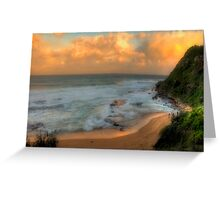 Turimetta Sunset - Turimetta Beach, Sydney Australia - The HDR Experience Greeting Card