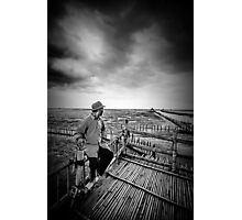 Oyster Farmer Photographic Print