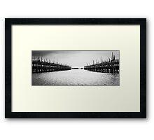 Oyster Farm Panorama Framed Print