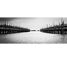 Oyster Farm Panorama Photographic Print