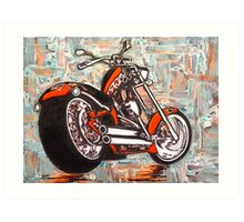 Motorcycle collage / Abstract Art Print