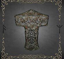 Celtic Wood Hammer Thor by Eva Nev