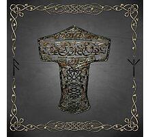 Celtic Wood Hammer Thor Photographic Print