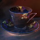 Retro Deep Purple Teacup by TruDesigns