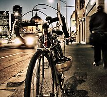 melbourne... fragments: flinders street at dusk by sebastian