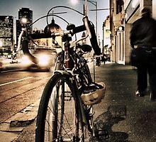 melbourne... fragments: flinders street at dusk by sebastian