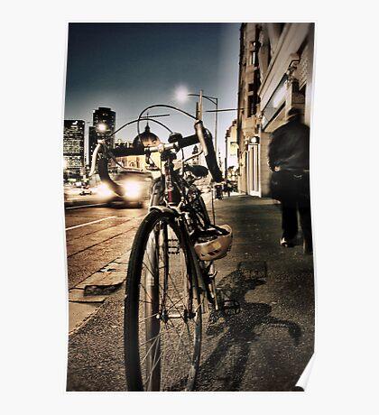 melbourne... fragments: flinders street at dusk Poster