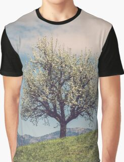 Blossom tree on a hill in Switzerland Graphic T-Shirt