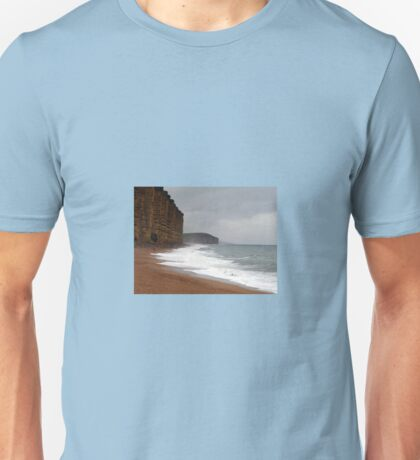 Nature v Man at West Bay in Dorset Unisex T-Shirt