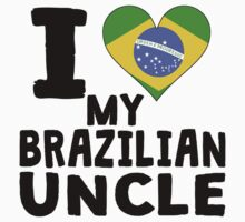 I Heart My Brazilian Uncle Baby Tee