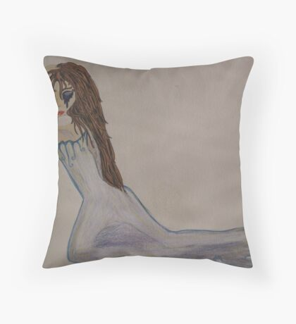 Lady in Throw Pillow