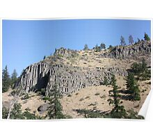 Basalt Cliffs, Washington Poster