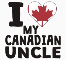 I Heart My Canadian Uncle One Piece - Short Sleeve