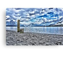 Cloudy day at lake lucerne Canvas Print
