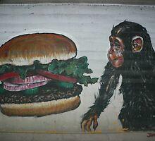 Monkey Burger by Angela  Wright