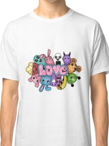 Doodle love - Colors /White Background Classic T-Shirt