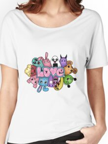 Doodle love - Colors /White Background Women's Relaxed Fit T-Shirt