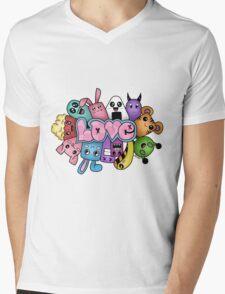Doodle love - Colors /White Background Mens V-Neck T-Shirt