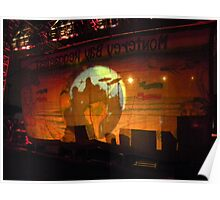 Maxi Priest in Shadow Through the Backdrop Poster