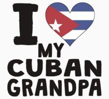 I Heart My Cuban Grandpa Kids Tee