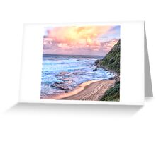 Turimetta Sunset #3 - Turimetta Beach, Sydney Australia - The HDR Experience Greeting Card