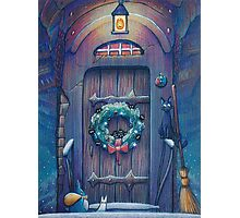 Ghibli Christmas in Howl's Moving Castle Photographic Print
