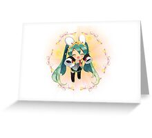 Chibi Miku Greeting Card