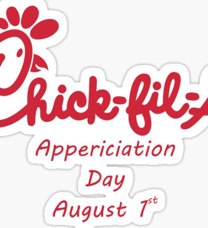 Chick-Fil-A Appreciation Day Sticker