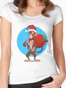 funny monkey.  Women's Fitted Scoop T-Shirt