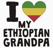 I Heart My Ethiopian Grandpa Kids Clothes