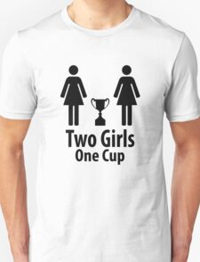 Two Girls One Cup - Parody T-Shirt