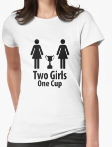 Two Girls One Cup - Parody Womens Fitted T-Shirt
