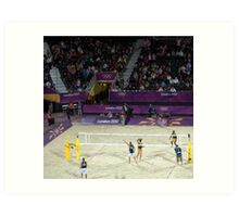 South Africa v USA Beach Volleyball Art Print