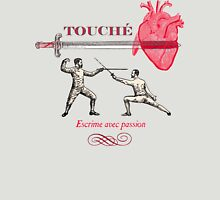 Fencing Touche Heart Unisex T-Shirt