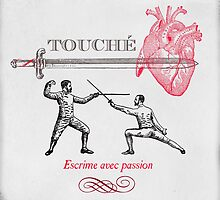 Fencing Touche Heart by Eva Nev