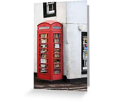 Book Box, Milnathort, Scotland Greeting Card