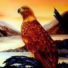 Golden Eagle Majesty by Mae Pilon